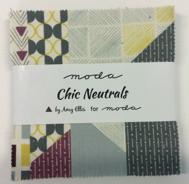 Chic Neutrals by Amy Ellis for Moda - fabric MINI Charm Pack - 42 x 2.5