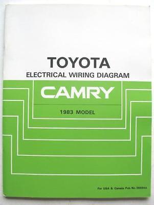 1983 TOYOTA CAMRY ORIGINAL DEALER ELECTRICAL WIRING ...