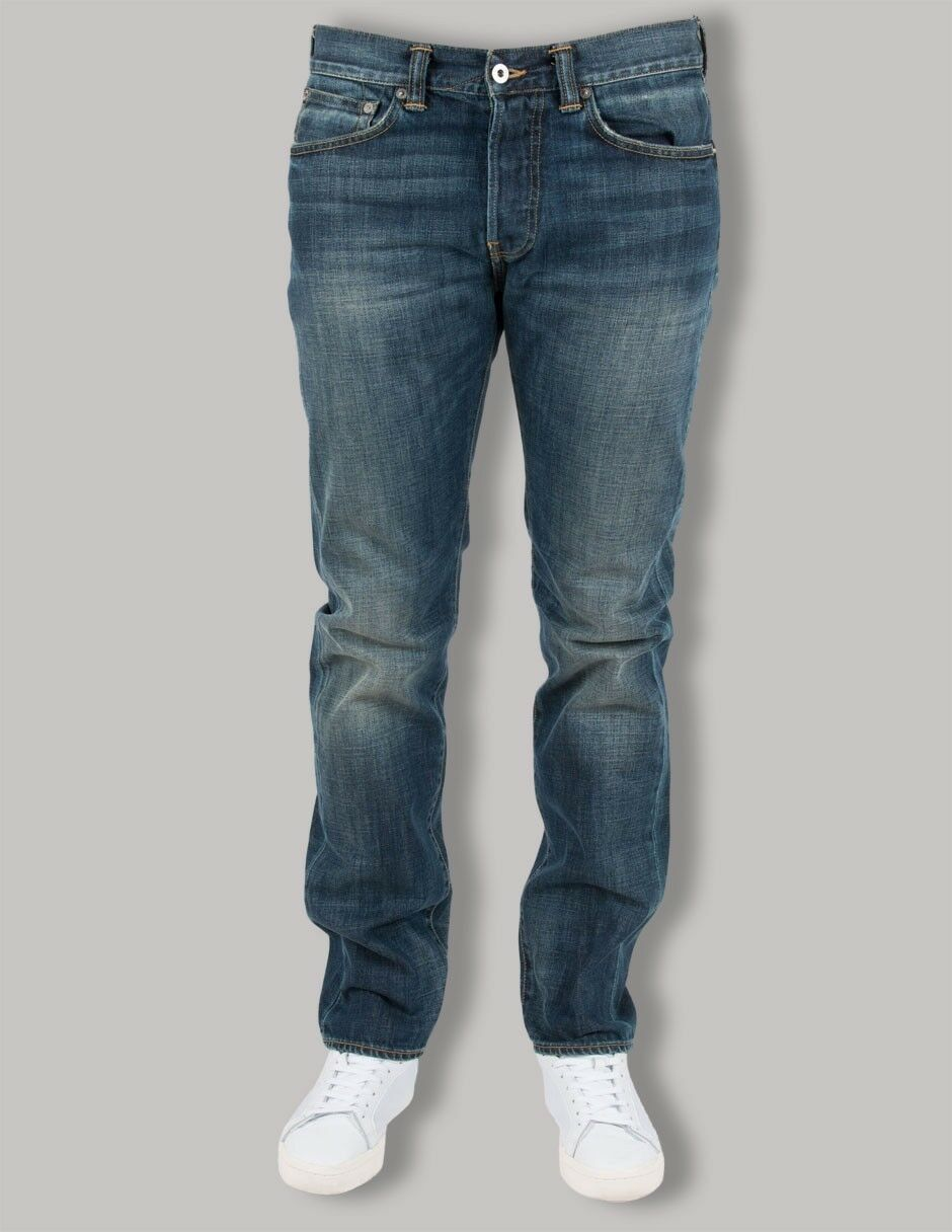Edwin 80 Slim Tapered Denim Blu Scuro 12OZ sporcizia Dirt lavaggio jeans W31 L32 VR26 07