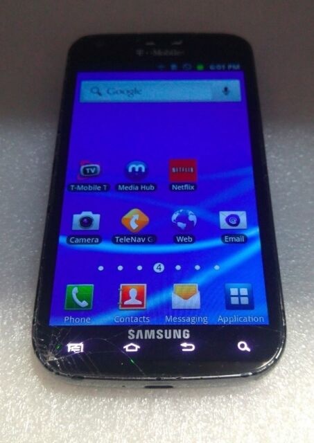 Samsung Galaxy S II -(SG T989) 16GB T-MOBILE  - CRACKED GLASS - READ BELOW