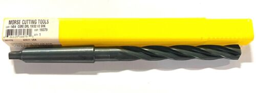"Morse 19//32/"" Core Drill Taper Shank 2MT HSS 118° 4 Flute USA Made 16079"