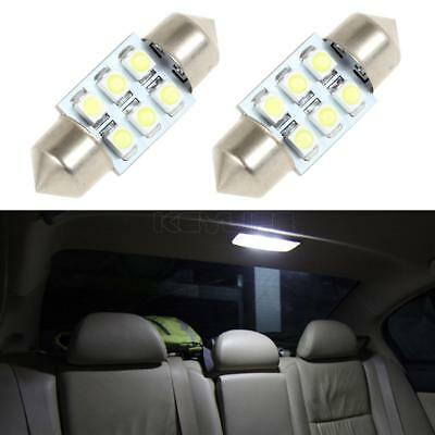 31mm 12 LED SMD Festoon Dome Light lamp Car Bulbs Purple 3021 3022 DE3175 4