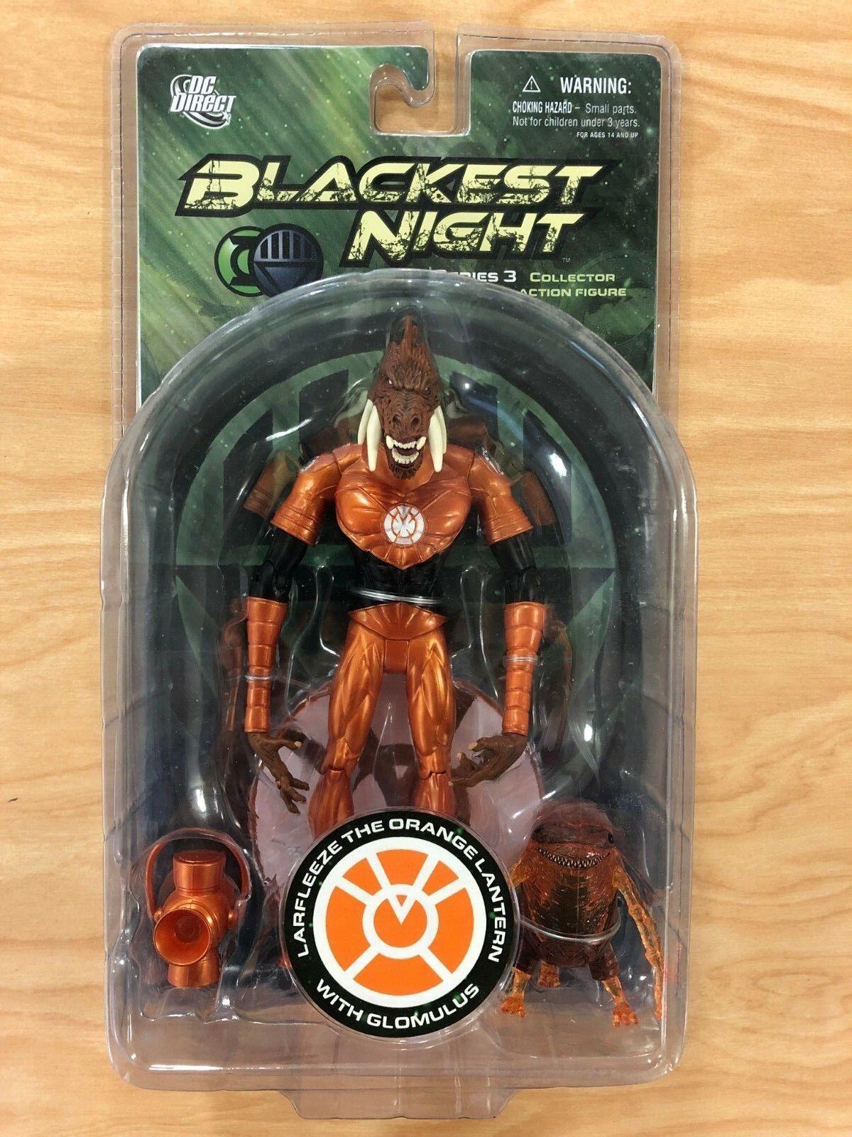 DC Direct negroest Night serie 3 Larfleeze la Naranja Linterna con glomulus Nuevo