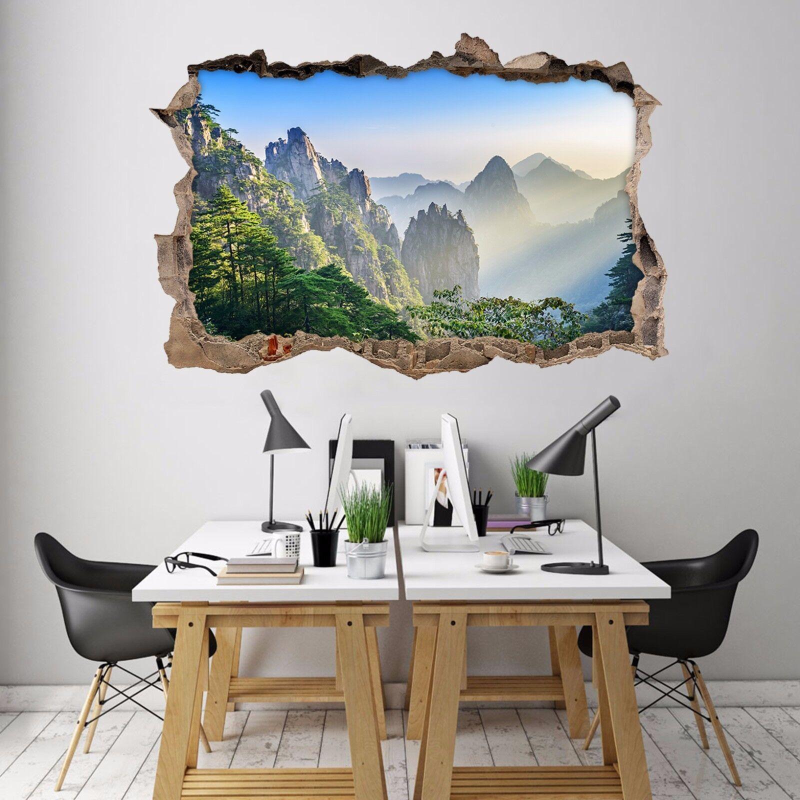 3D Vista Montagne 129 Parete Murales Adesivi Decal Sfondamento AJ WALLPAPER IT