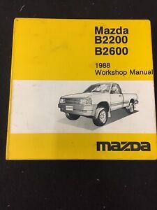 1978 Mazda B2200, B2600 Truck Factory Workshop Manual ...