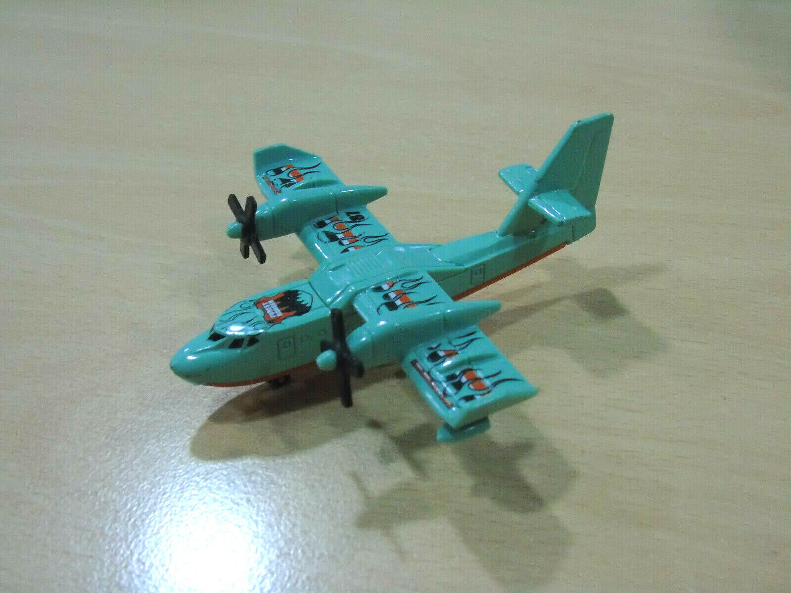 Matchbox 2009 Mattel Sb-87 Avión Modelo Blaze Buster Muy Raro
