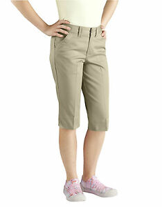 DICKIES JUNIOR GIRLS KHAKI CAPRI PANTS SIZE 0 to 17 | eBay