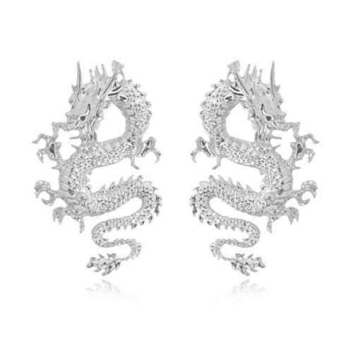 Punk Rock Firery Dragon Stud Earrings Thrones Costume Game Merchandise Jewelry