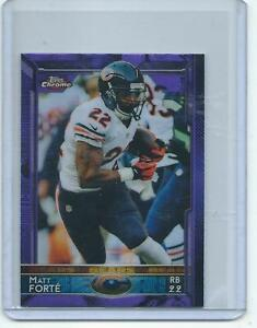 2015-Topps-Chrome-MINI-FB-032-Matt-Forte-Bears-ULTRA-RARE-PURPLE-REFRACTOR