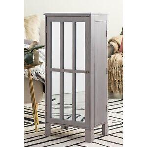 40 Gray Wash Finish Freestanding Jewelry Armoire Jewelry Box Storage Cabinet 749417635701 Ebay