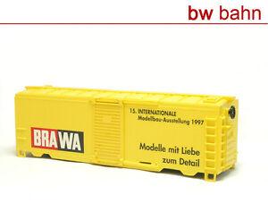 Brawa-h0-BOX-CAR-securisees-wagons-sans-bogies-auxiliaires-biens-ecailles-0993