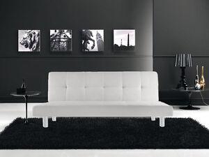 Divano Letto Apribile.Divano Letto 3 Posti Reclinabile Salotto Ecopelle Bianco Design