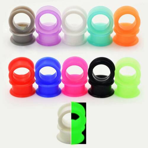 Details about  /11//13Pairs Thick Silicone Ear Gauges Flesh Tunnels Plugs Stretchers Ear Piercing