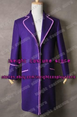 Charlie And The Chocolate Factory Cosplay Willy Wonka Purple Costume In Stock