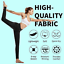 thumbnail 6 - CAMBIVO High Waist Yoga Pants for Women, Non See through Workout Leggings with 2