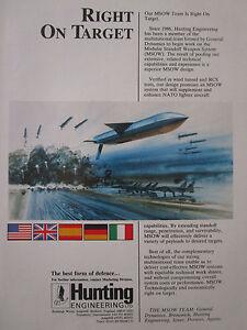 1-1989 PUB HUNTING GENERAL DYNAMICS BRUNSWICK MSOW STANDOFF WEAPON SYSTEM AD eWMGYJRc-09090114-187235034