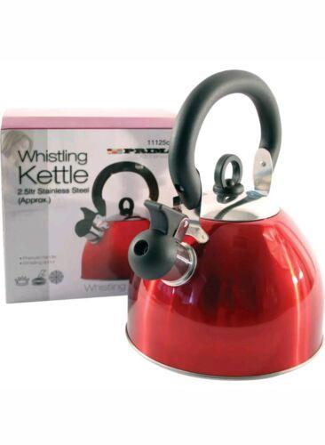 Fischio bollitore prima in acciaio inox 2.5 LT fenolica impugnatura Utensili da Cucina Tea