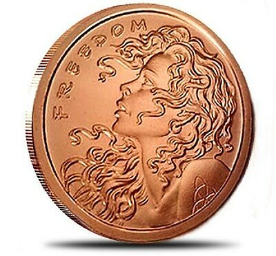 2013 SBSS Freedom Girl 1 oz .999 Copper BU Round USA Made RARE Bullion Coin