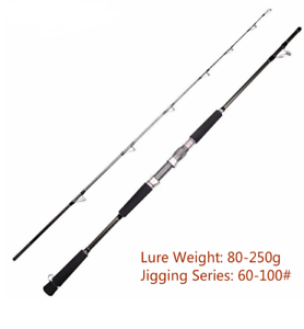 Saltwater Fishing Jigging Rod 1.8M Lure Weight Autobon Boat Spinning Pole Rods