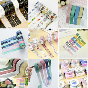 Colorful-Washi-Tape-Set-Masking-Tape-Scrapbook-Decorative-Paper-Adhesive-Sticker