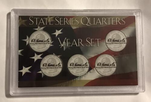 5 HOLE COIN HOLDER FROSTY PLASTIC   #0395 WASHINGTON STATE QUARTER DISPLAY CASE