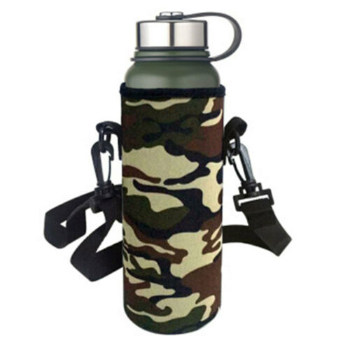Anti-collision Camouflage Outdoor Sport Water Bottle Cover Bag Case Pouch TMG