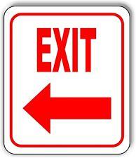Exit Left Arrow Sign Metal Outdoor Sign Parking Lot Sign Long Lasting