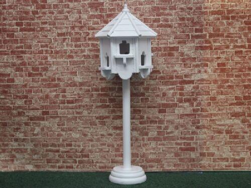 Birdhouse in White, Dolls House Miniature, Bird House Garden Accessory