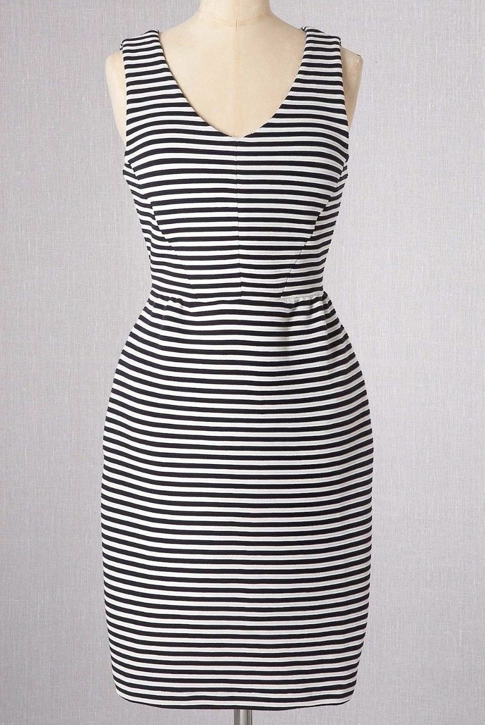 New Boden  Striped Vintage Ponte Shift Dress Size US 8