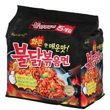 New Samyang Buldak Bokeum Myun Ramyun Korean Spicy Noodle Instant Food 5Pcs