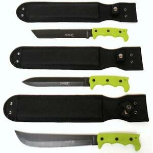WOW-SALE-Lot-of-3-Zombie-Survival-Hunting-Knives-Machetes-Free-Shipping-Too