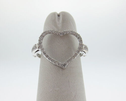 Genuine Diamonds 1 2ct Solid 14k White gold Heart Ring Size 7