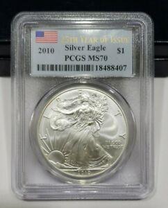 2010 PCGS MS 70 25th Year Of Issue American Eagle Silver Dollar 1 Troy oz. .999
