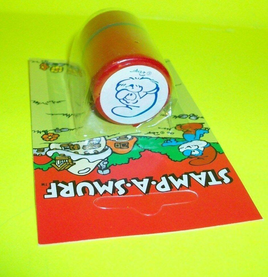 Vtg Smurf WB Ganz Bros Toy Toy Toy Ltd Peyo RARE PAPA SMURF STAMP-A-SMURF Ink Stamper 20d8d3