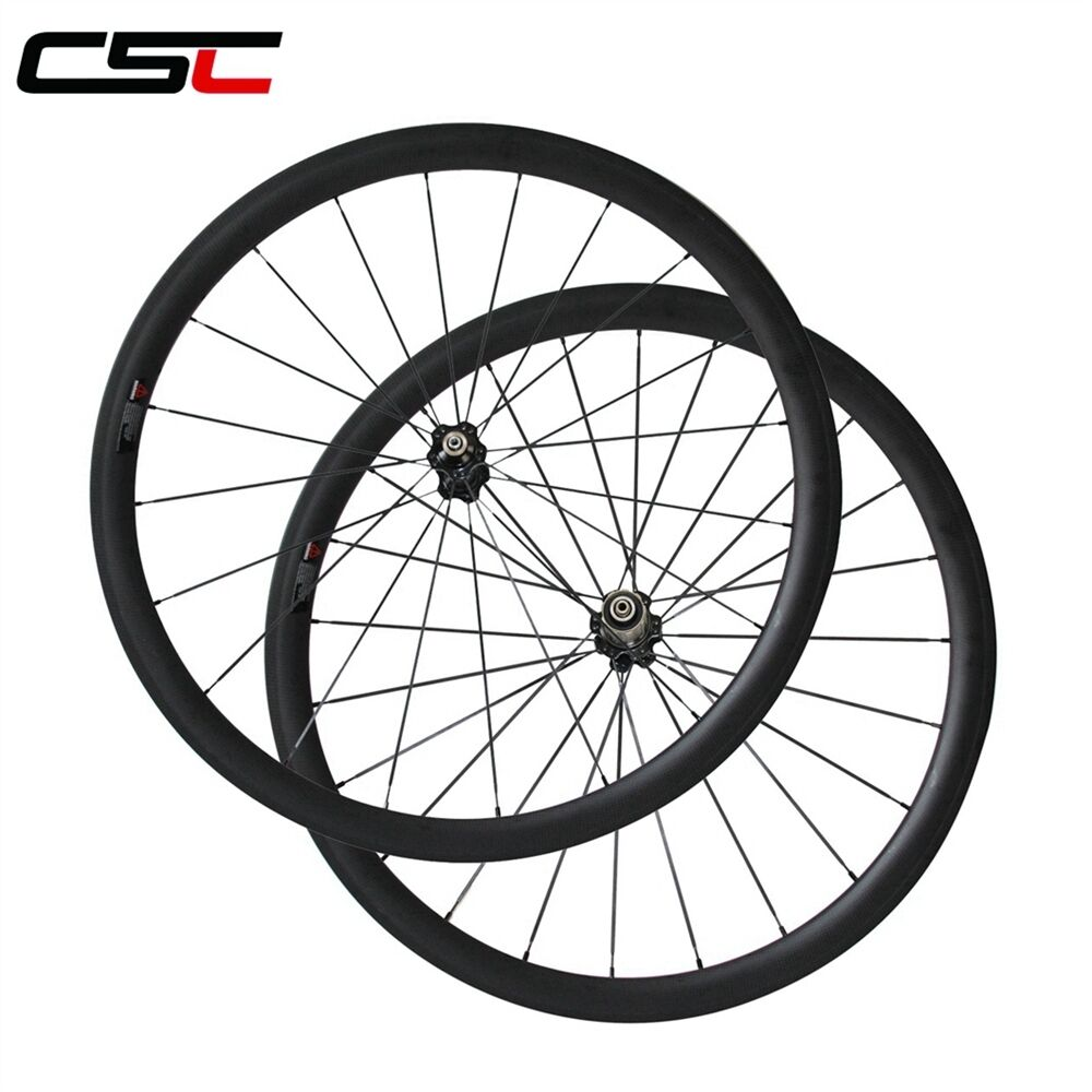 CSC carbon bike wheelset 38mm clincher carbon road bicycle wheels