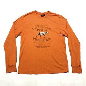 Long Sportsman Dog About Polo Shirt Men's Sleeve Tee Lauren Small Vintage Ralph Details lcu13JTFK