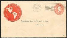#U358 ON 1901 PAN AMERICAN EXPOSITION COVER -- SCARCE -- BUFFALO, NY BT3008