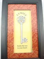 Wall Shadow Box Picture Frame Silver Vintage Key Family Holds The Key To Heart