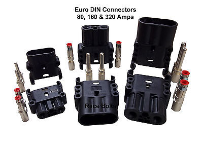 ANDERSON EURO DIN BATTERY CONNECTOR PLUG - 80, 160 & 320 AMP WILL FIT REMA