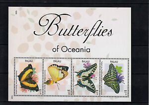 Palau 2013 MNH Butterflies of Oceania 4v M/S Insects Swallowtail Lurcher
