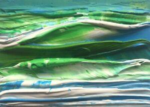 SHADES-OF-BLUE-GREEN-SEA-Acrylic-ACEO-Painting-2-5-034-x-3-5-034-Julia-Garcia-Art-NEW
