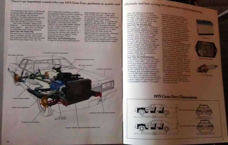 Brochure 1975 Plymouth Gran Fury., emne: bil og motor