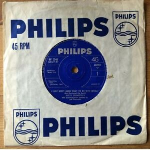 DUSTY-SPRINGFIELD-I-Just-Don-039-t-Know-What-To-Do-With-Myself-7-034-Single-1964-VG-EX