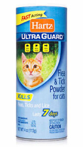 2-Hartz-Ultra-Guard-FLEA-amp-TICK-CATS-POWDER-Kills-Fleas-Ticks-Lice-Lasts-7-Days