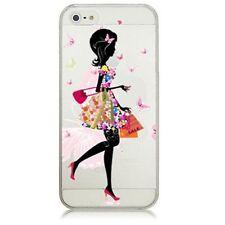 iPhone 6/6s (4'7) Dibujos carcasa dura rigida Transparente Rosa  chica Niña Hada