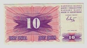Bosnia-10-dinari-1992-FDS-UNC-pick-10-lotto-834