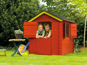 kinderhaus little park kinderspielhaus garten holz spielhaus holzhaus f r kinder ebay. Black Bedroom Furniture Sets. Home Design Ideas