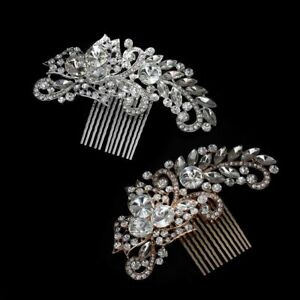Bridal-Crystal-Comb-Hair-Clip-Pins-Wedding-Headpiece-Delicate-Hairwear-Jewelry