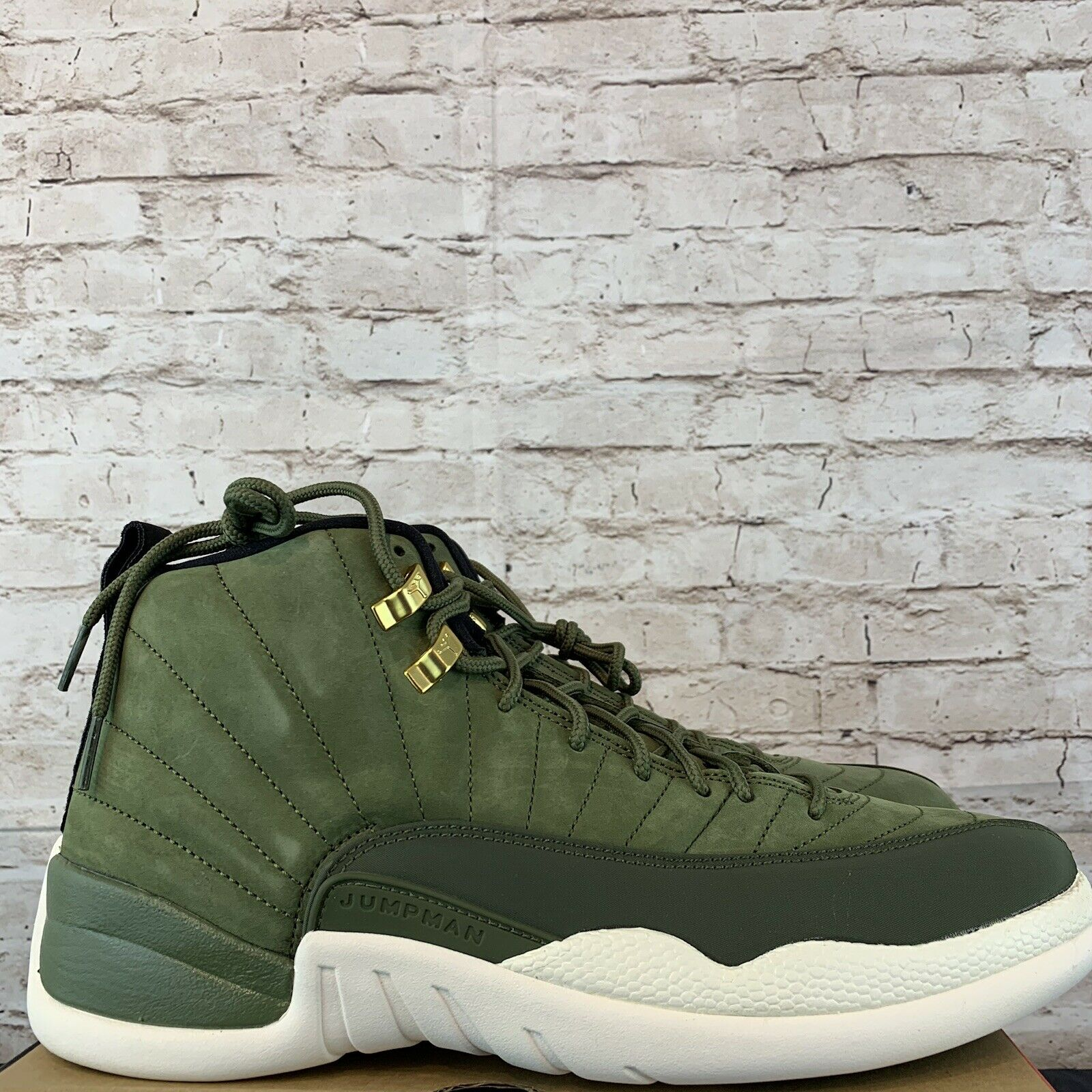 the latest b491d 14cd2 Air Jordan 12 Retro Chris Paul Cp3 Class of 2003 Olive 130690-301 Size 15