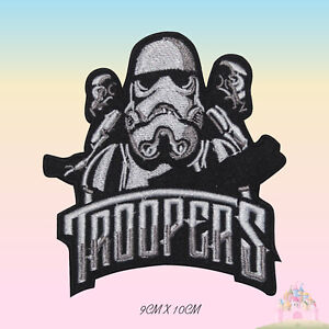 Troopers STAR WARS Embroidered Iron On Patch Sew On Badge Applique